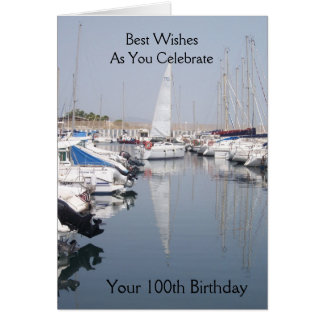 Boats 100th Birthday Card
