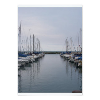 boats 13 cm x 18 cm invitation card