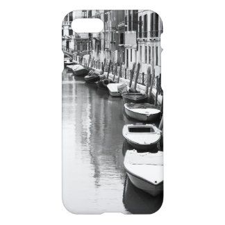 Boats along a canal in the Italian city of Venice iPhone 7 Case