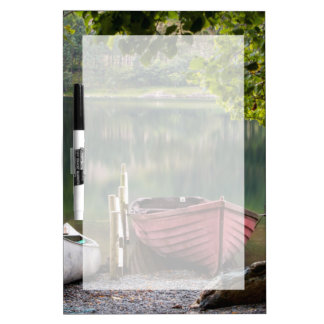 Boats along the shore of Buttermere Lake Dry Erase Board