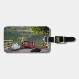 Boats along the shore of Buttermere Lake Luggage Tag