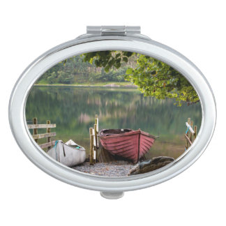 Boats along the shore of Buttermere Lake Vanity Mirror