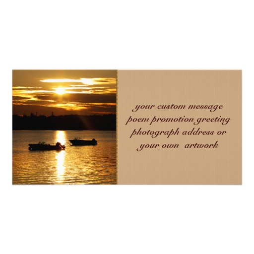 Boats and Fiery Sky Photo Card Template