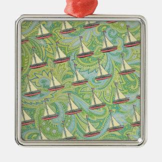 boats and paisley christmas tree ornaments