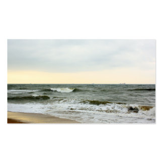 Boats and surge from the border of the beach pack of standard business cards