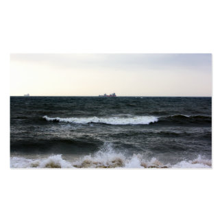 Boats and Surge in the Atlantic Ocean from the coa Pack Of Standard Business Cards