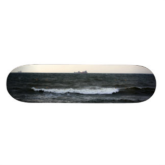Boats and Surge in the Atlantic Ocean from the coa Skate Board Deck
