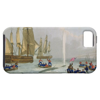 Boats Approaching a Whale, engraved by Matthew Dub iPhone 5 Covers
