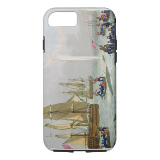 Boats Approaching a Whale, engraved by Matthew Dub iPhone 8/7 Case