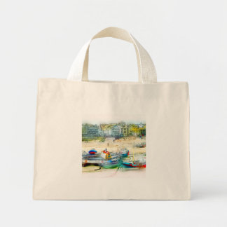 BOATS AS A PAINTING MINI TOTE BAG