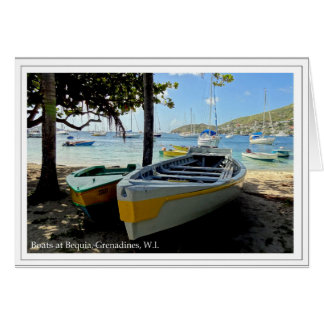 Boats at Bequia, Grenadines, W.I. Card