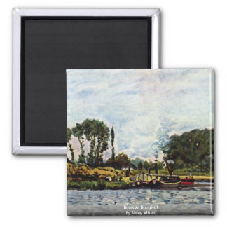 Boats At Bougival By Sisley Alfred Magnet