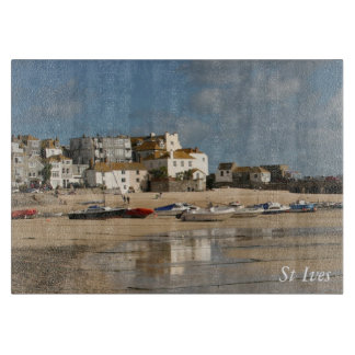 Boats at Low Tide, St Ives Harbour Cutting Board