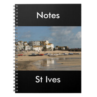 Boats at Low Tide, St Ives Harbour Note books