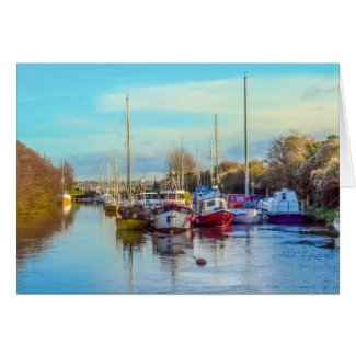 Boats at Lydney Harbour Card
