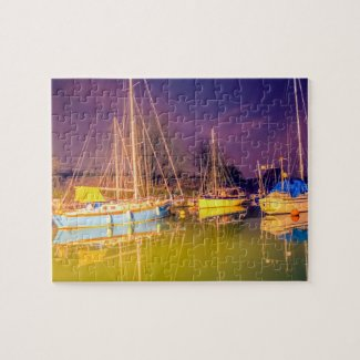 Boats at Lydney Harbour Jigsaw Puzzle