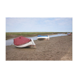Boats at rest gallery wrap canvas