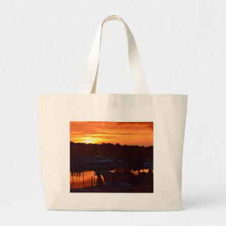 Boats At Sunset Bags