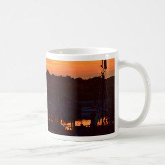 Boats At Sunset Coffee Mug