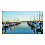 Boats At The Marina Pack Of Standard Business Cards