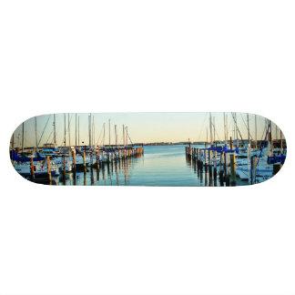 Boats At The Marina Skateboard Decks
