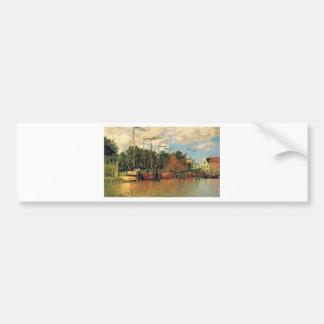 Boats at Zaandam by Claude Monet Bumper Sticker
