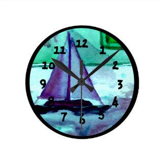 Boats Bathtub Sailing Sailboats Bathroom Clocks