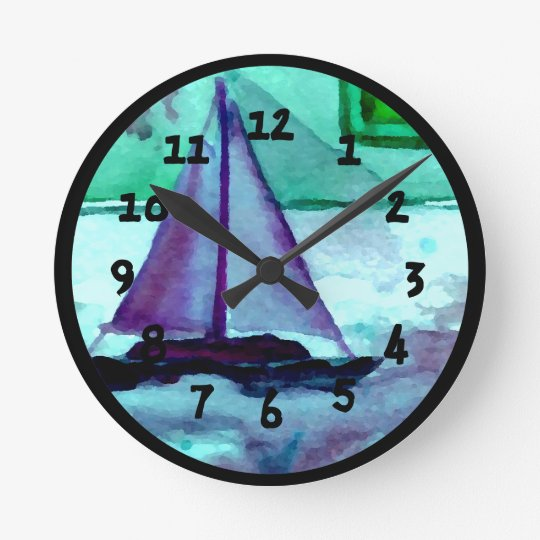 Boats Bathtub Sailing Sailboats Bathroom Clocks Part 56