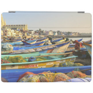 Boats being readied for fishing, The Church of iPad Cover