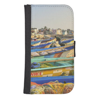 Boats being readied for fishing, The Church of Samsung S4 Wallet Case