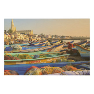 Boats being readied for fishing, The Church of Wood Wall Decor