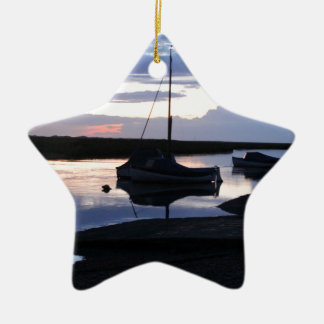 Boats Blakeney at dusk Christmas Ornament