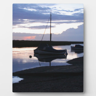 Boats Blakeney at dusk Plaque