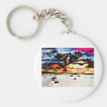 boats by Tom Conway Keychain