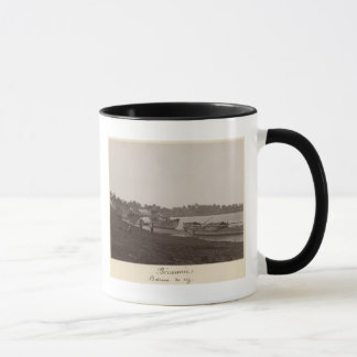Boats carrying rice on the River Thanlwin Mug