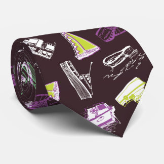 Boats chocolate and lime tie