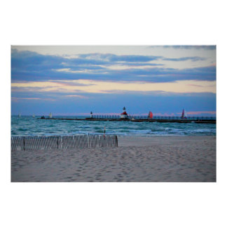"Boats Coming In St. Joseph 36""X24"" Poster"