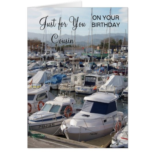 Boats Cousin Birthday Card