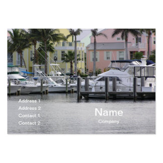 boats docked in a marina pack of chubby business cards