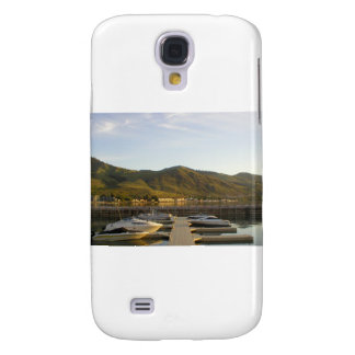 Boats docked on lake galaxy s4 case