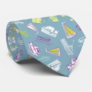 Boats grey lime tie