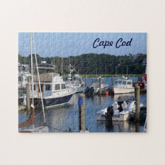 Boats in a Cape Cod Harbor Jigsaw Puzzles