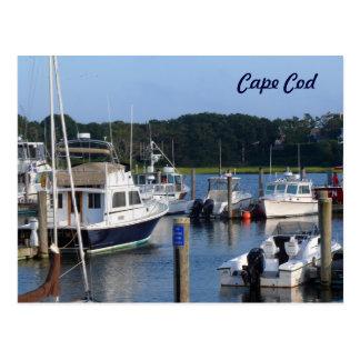 Boats in A Cape Cod Harbor Postcard
