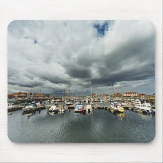 Boats In A Harbor Mouse Mat
