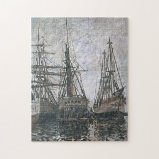 Boats in a Harbour Monet Fine Art Jigsaw Puzzle