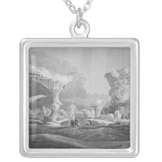 Boats in a Swell Amongst Ice Silver Plated Necklace