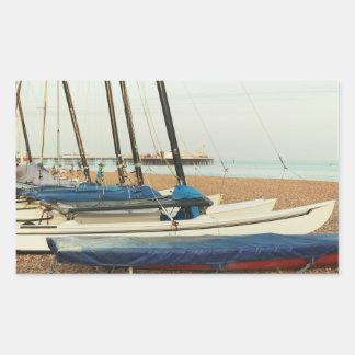 Boats in Brighton, UK Rectangular Sticker