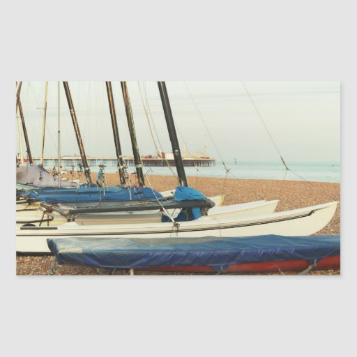 Boats in Brighton, UK Sticker