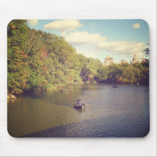 Boats in Central Park's Pond, New York City Mouse Mat
