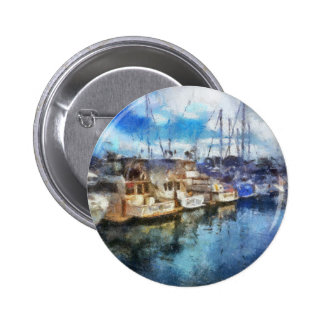 Boats in Dana Point Pinback Button